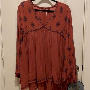 Open back free people tunic size small
